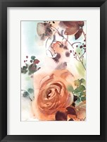Framed Rosy Rose