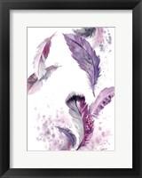 Framed Purple Feathers IV