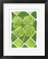 Framed Lucky Clover