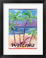 Framed Welcome to Paradise