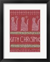 Framed Kitty Christmas