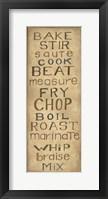 Framed Kitchen Words
