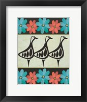 Framed Geese and Floral II