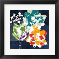 Framed Colorful Succulents I
