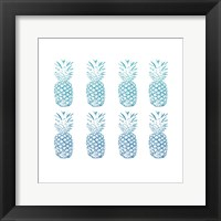 Framed Beach Ombre Pineapples Simple