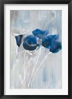 Framed Blue Floral