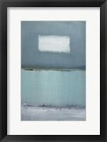 Framed Azure Blue I