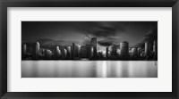 Framed Miami Skyline