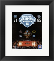 Framed University of North Carolina Tar Heels 2017 NCAA Men's College Basketball National Champions Composite