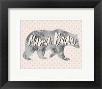 Framed Mama Bear Silhouette