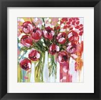 Framed Razzle Dazzle Tulips