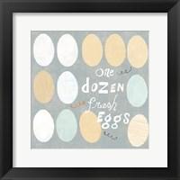 Framed Fresh Eggs IV