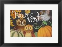 Framed Harvest Owl IV