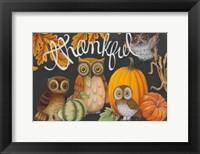 Framed Harvest Owl III