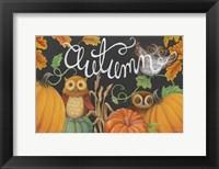 Framed Harvest Owl II