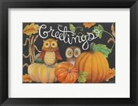 Framed Harvest Owl I