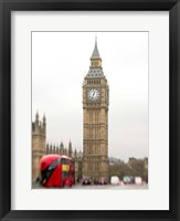 Framed Big Ben Bus