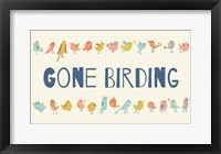 Framed Gone Birding - Colorful Birds