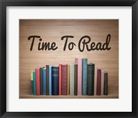 Framed Time To Read - Wood Background Color
