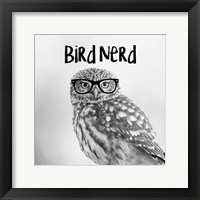 Framed Bird Nerd - Owl