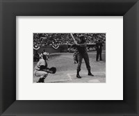 Framed Fidel at Bat