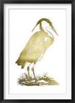 Framed Gold Foil Heron I