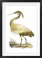 Framed Gold Foil Heron II
