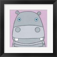 Framed Super Animal - Hippo