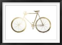 Framed Gold Foil Bicycle