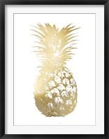Framed Gold Foil Pineapple I