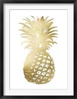 Framed Gold Foil Pineapple II