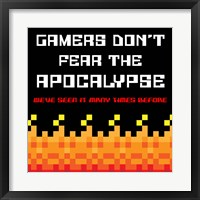 Framed Gamers Don't Fear The Apocalypse  - Red