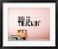 Framed Keep On Truckin' Brown