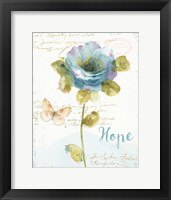 Framed Rainbow Seeds Floral VII Hope