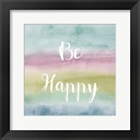 Framed Rainbow Seeds Painted Pattern XIV Cool Happy
