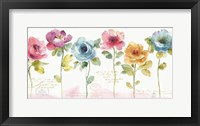 Framed Rainbow Seeds Loose Floral V
