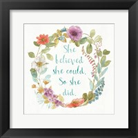 Framed Rainbow Seeds Wreath I