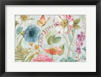 Framed Rainbow Seeds Flowers I Gray