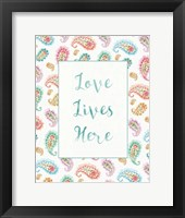 Framed Rainbow Seeds Love Lives
