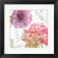 Framed Rainbow Seeds Flowers V