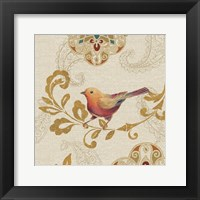 Framed Bird Rainbow Orange