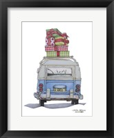 Framed Christmas Van