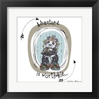 Framed Panda With Words