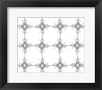 Framed Thistle Flower Pattern