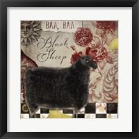 Framed Baa Baa Black Sheep