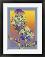 Framed Blue Thistle