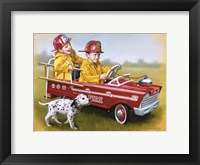 Framed 1959 Murray Fire Truck