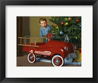 Framed 1950 Murray Fire Truck