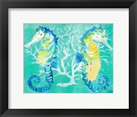 Framed Seahorses on Coral