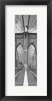 Framed Brooklyn Bridge Panel